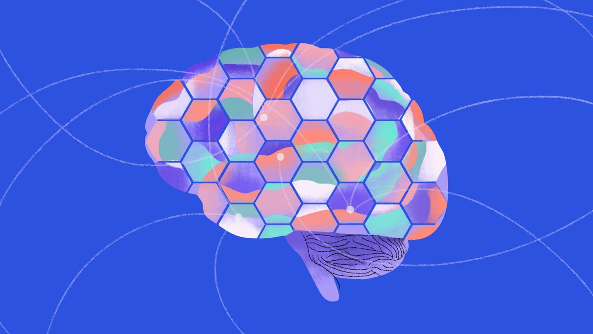 un'illustrazione sull'hive mind, la mente alveare nel digitale